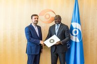 HE Kazem Gharib Abadi, Permanent Representative of the Islamic Republic of Iran, presents his credentials to the Executive Secretary of the Comprehensive Nuclear-Test-Ban Treaty Organization (2018)