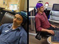 Ferngesteuerte Forscher: Rajesh Rao und Andrea Stocco. Bild: washington.edu