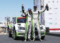 """SKODA bei der Rallye Italien Sardinien: Jan Kopecky/Pavel Dresler (SKODA FABIA R5) fuhren 13 Bestzeiten in der WRC 2 bei der Rallye Italien Sardinien. Bild: """"obs/Skoda Auto Deutschland GmbH"""""""