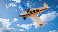 Modellflugzeug mit gedrucktem Elektronik-Flügel.