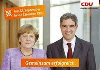 Angela Merkel mit dem heutigen Präsidenten des Bundesverfassungsgerichts Harbarth, Archivbild