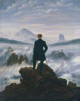 Der Wanderer über dem Nebelmeer Caspar David Friedrich, um 1818 Öl auf Leinwand, unsigniert 94,8× 74,8cm