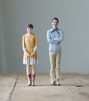Schönes Paar: 3D-Ebenbilder aus dem Drucker. Bild: omote3d.com