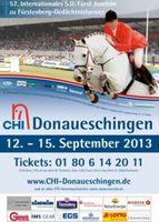 57. Internationales S.D. Fürst Joachim zu Fürstenberg-Gedächtnisturnier Donaueschingen 12. - 15. September 2013