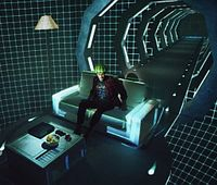 Wohnzimmer: Dank aufwändiger Technik mitten im Film. BIld: Sony
