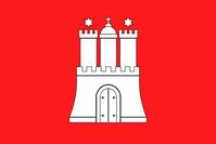 Flagge von Hamburg