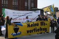 Demonstration anlässlich der Koalitionsverhandlungen am 28.März 2008