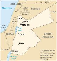 Karte von Jordanien Bild: wikipedia.org