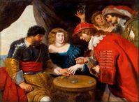 """""""Players and courtesans under a tent"""" von Cornelis de Vos"""