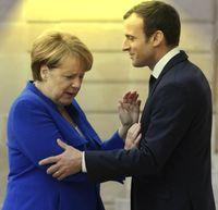 Angela Merkel  und  Emmanuel Macron (2017)