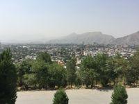 Kabul City von einem Hügel aus