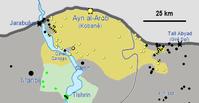 Ausgangslage zur Schlacht um Ain al-Arab (Kobane) , Mitte September 2014,