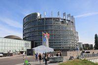 """Europäisches Parlament in Straßburg - Beinahe 1:1 Kopie des """"Turmbau zu Babel"""" aus der Bibel."""