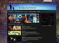 Bild: Screenshot der Webseite http://www.astronomie-in-deutschland.de/