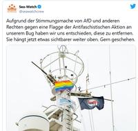 "Bild: Screenshot Twitteraccount: ""@seawatchcrew"" / Eigenes Werk"