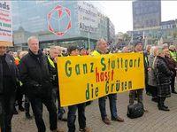 Eine vielzahl an Stuttgarter Bürgern fühlt sich durch die Grünen verraten (Symbolbild)