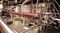 Aufbau der Apparatur im Labor Quelle: © C. Kaup (idw)