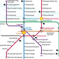 Lageplan im U-Bahnnetzplan