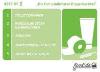 """Die fünf peinlichsten DrogerieartikelBild: """"obs/food direkt GmbH/Food Direkt GmbH"""""""