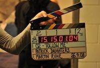 Filmklappe kurz vor Beginn der eigentlichen Aufnahme