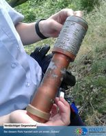 Handgranate? Drogendepot?. Bild: Polizei Euskirchen