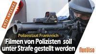 """Bild: SS Video: """"Polizeistaat Frankreich: Das Filmen von Polizisten soll unter Strafe gestellt werden"""" (https://youtu.be/dDSkiCZux7M) / Eigenes Werk"""