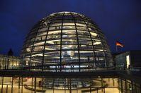 Die begehbare Glaskuppel des Reichstags.