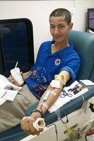 Abgabe einer Blutspende bei der US Navy