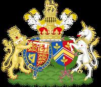 Das zusammengesetze Wappen von William und Catherine (Kate), den Herzögen von Cambridge (nach 2012)