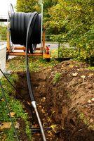 Breitband, Internet, Baustelle, Kabel (Symbolbild)