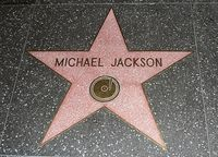Der Stern von Michael Jackson auf dem Walk of Fame in Hollywood