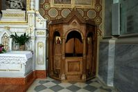 Beichtstuhl, Buße, Kirche (Symbolbild)