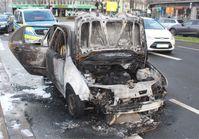 Ausgebrannter Skoda Bild: Polizei