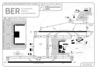 Layout des Flughafens Berlin Brandenburg (BER/EDDB) zum Eröffnungszeitpunkt