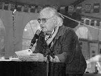 Dietrich Kittner auf dem UZ Pressefest Dortmund 2003. Bild: rotbild