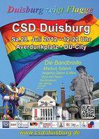 Plakat zum Christopher Street Day in Duisburg 2012