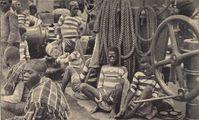 """Sklavenhandel: """"Auf Deck eines Sklavendampfers im Kongogebiet"""" (Symbolbild)"""