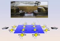 Dehnungsversuch (oben) und veränderte Kristallstruktur. Bild: ucdavis.edu