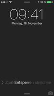Sperrbildschirm von iOS 7 eines iPhone. Bild: Apple/TheMostAmazingTechnik