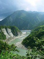 Der Fluss Xiuguluan in Taiwan