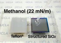 Tropfenbildung: die neue Oberfläche im Test. Bild: UCLA Engineering