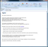 Screenshots einer aktuellen Phishing-Mail