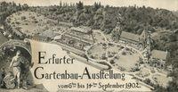 Erfurt hat eine lange Gartenschautradition. 1865 und auch 1902 lud man nach Erfurt, das sich damit den Namen Blumenstadt erwarb. Bild: Stadtarchiv Erfurt Fotograf: Bundesgartenschau Erfurt 2021