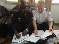 Unterzeichung der Kooperationsvereinbarung zwischen der Polizeiakademie Niedersachsen und der Ècole Nationale de Police du Mali Bild: Polizei