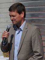 Christian Baldauf bei einem öffentlichen Auftritt in Frankenthal 2010