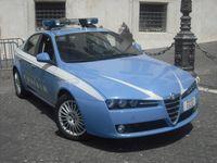 Alfa Romeo der Polizia di Stato vor dem Quirinalspalast in Rom.
