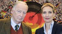 Dr. Alexander Gauland und Dr. Alice Weidel, AfD-Bundesvorstand und Vorsitzende der AfD-Bundestagsfraktion (2019)