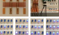 Digitaler Speicher: Gedrucktes Device schaltet Lampen. Bild: duke.edu