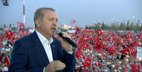 """Bild: Screenshot Youtube Video """"Başkomutan Recep Tayyip ERDOĞAN ın Yenikapı Demokrasi Ve şehitler mitingi Konuşması """""""