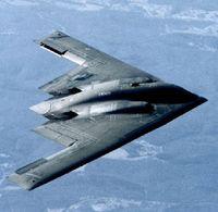 Ein Tarnkappenflugzeug das Streubomben transportieren kann
